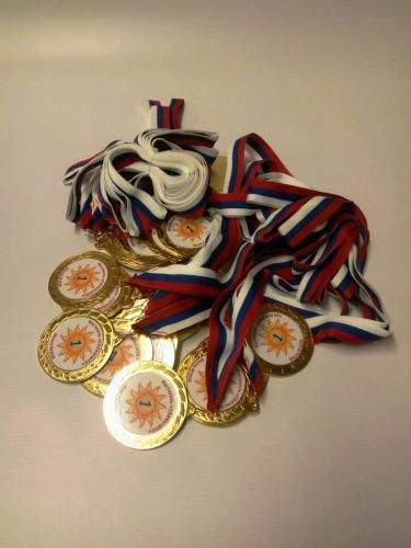 Изготовление медалей с полиграфической вставкой для соревнований